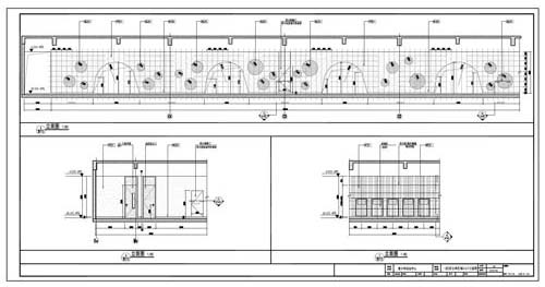 青少年活动中心施工图深化设计C区1层公共区域3/4/7立面图