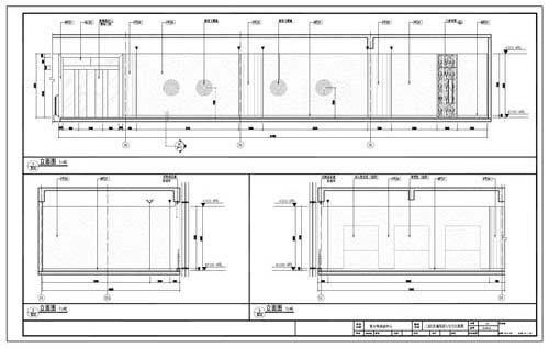 青少年活动中心深化设计施工图二层C区童玩区1/2/3立面图