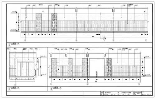 青少年活动中心深化设计施工图二层C区童玩区7/8立面图
