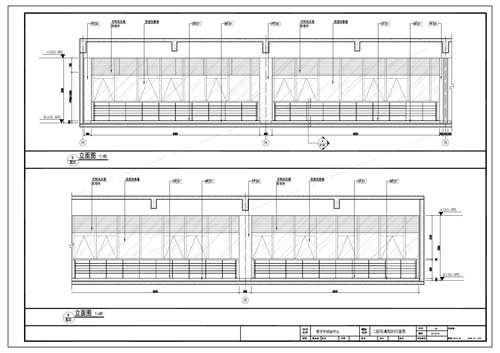 青少年活动中心深化设计施工图二层C区童玩区9立面图