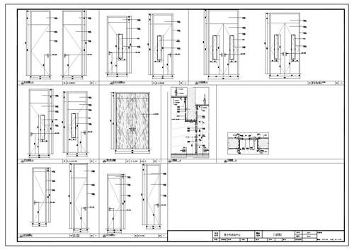 青少年活动中心深化设计施工图门表图2