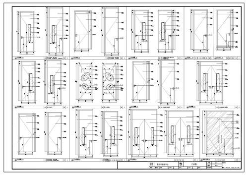 青少年活动中心深化设计施工图门表图1
