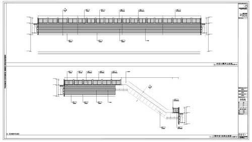 商场深化设计施工图中庭立面图10-11