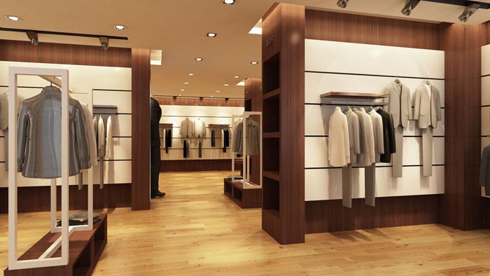 100平方男服裝店裝修設計案例