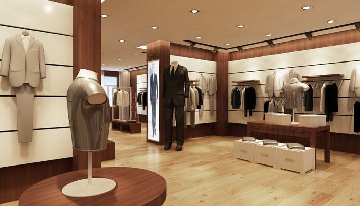 100平方男服装店装修设计案例