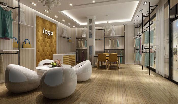 100平方女装专卖店装修设计案例