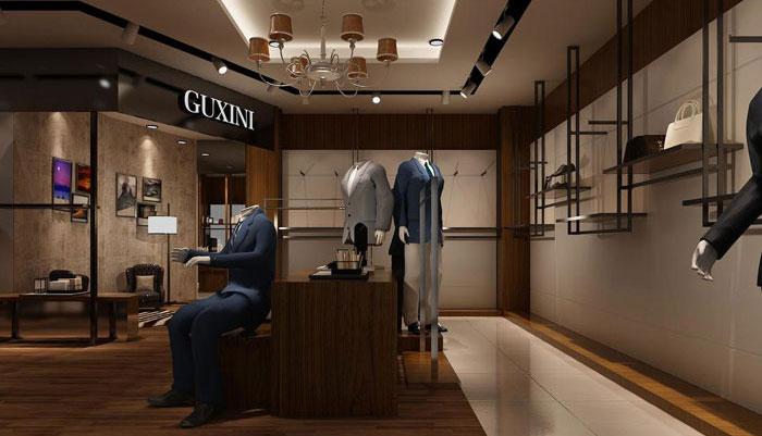男西装专卖店装修设计案例