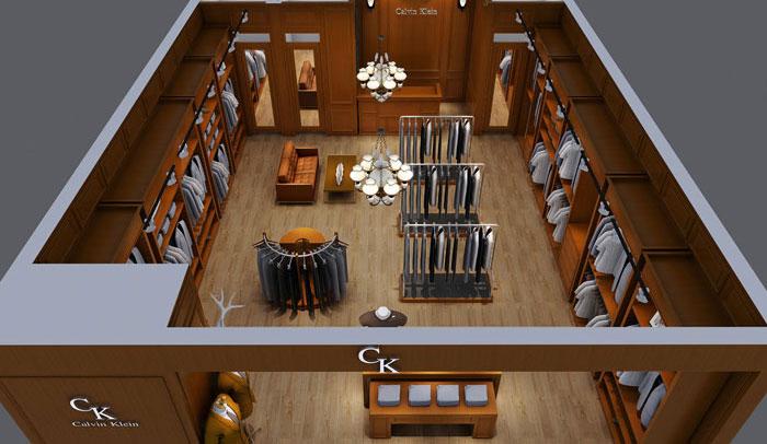 欧式男装专卖店装修设计案例
