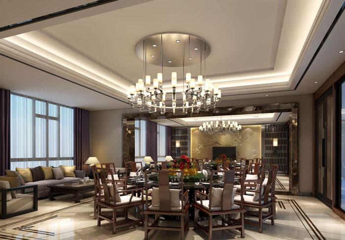 1000平方私人会所餐厅装修设计案例效果图