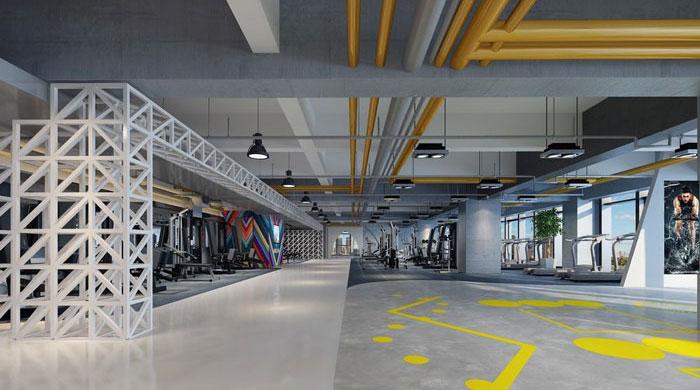 1700平方健身会所装修设计案例