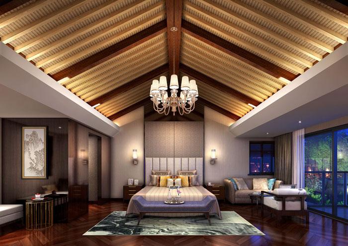 休闲化精品酒店卧室装修设计案例效果图