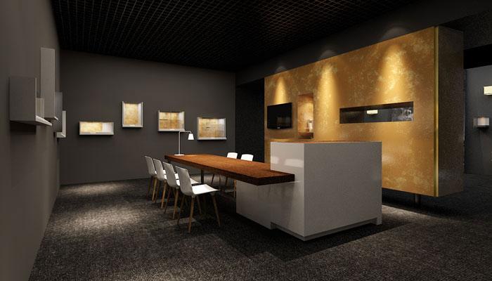古董拍卖展会展厅装修设计案例