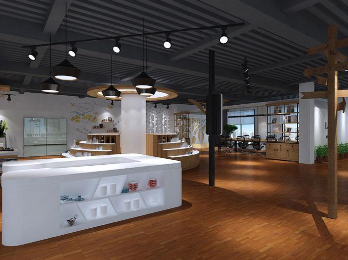 甜點展廳前臺區域裝修設計案例效果圖