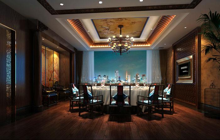 1300平米中餐廳包廂裝修設計案例效果圖