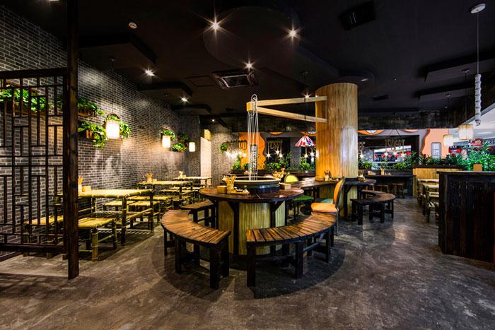 100平方混搭风格中餐厅装修设计方案详解
