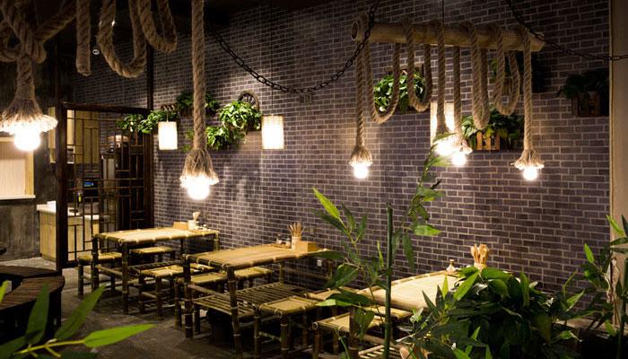 混搭风格中餐厅单人区域装修设计案例效果图