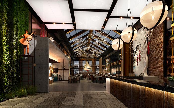 自然、素朴的餐厅装修设计方案