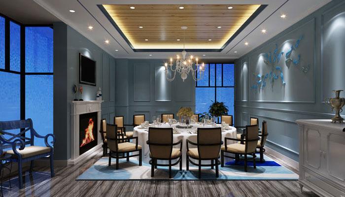 海盗先生主题餐厅包厢装修设计案例效果图