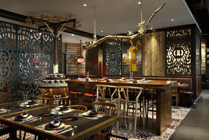 沉稳、古朴、自然、宁静的火锅店方案设计解析