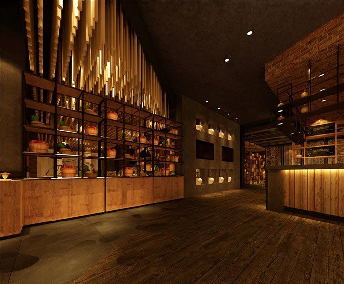 500平方充满怀念的中式餐厅装修设计方案解密