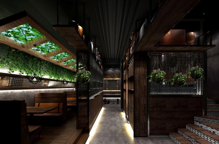 怀旧复古中餐厅装修设计案例