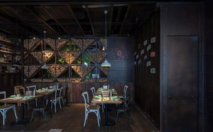 复古餐厅玄关装修设计案例效果图