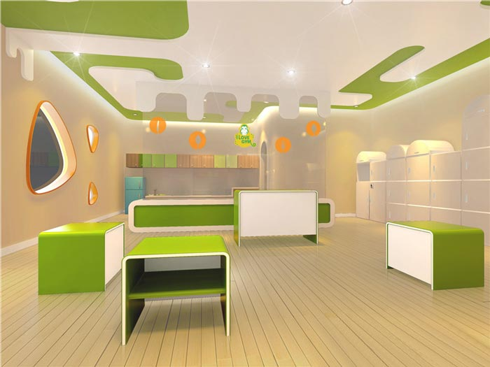 早教中心厨趣教室装修设计案例效果图