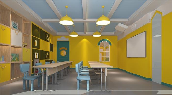 早教中心教室装修设计案例效果图