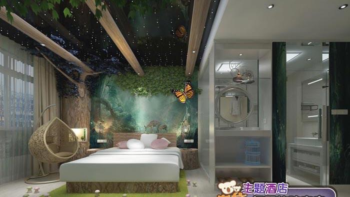 考拉主題酒店綠野仙蹤客房裝修設計案例效果圖