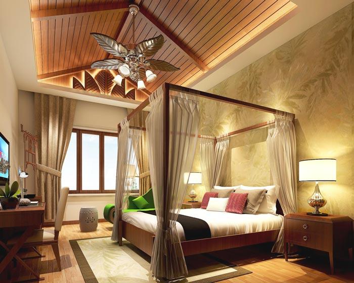 风情主题酒店单人间装修设计案例效果图