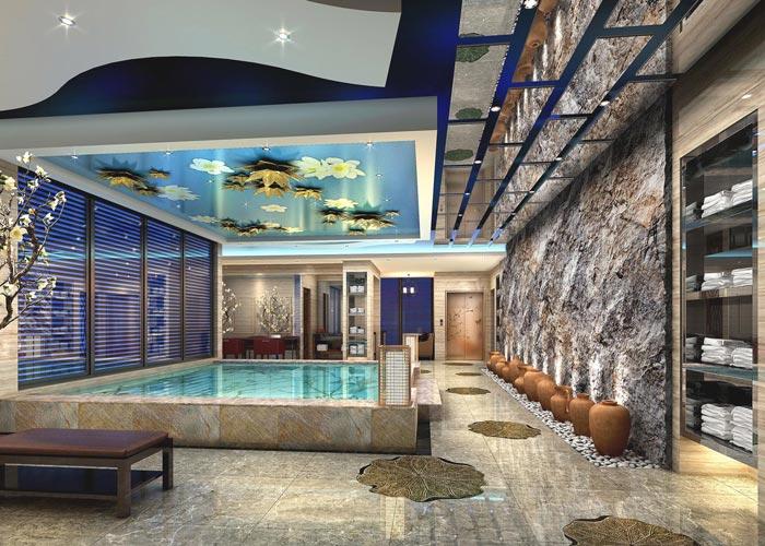 度假精品酒店浴室装修设计案例效果图