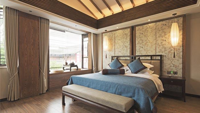 禅文化精品酒店客房装修设计案例效果图