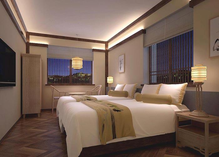 茶文化主题酒店装修设计案例图片