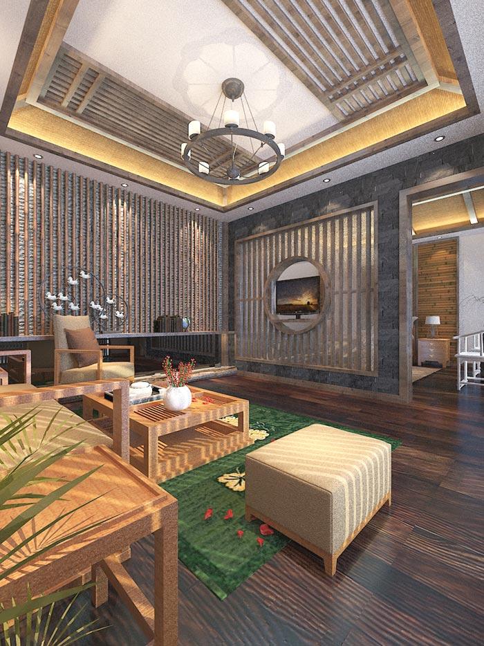 个人商务酒店交流区域装修设计案例效果图