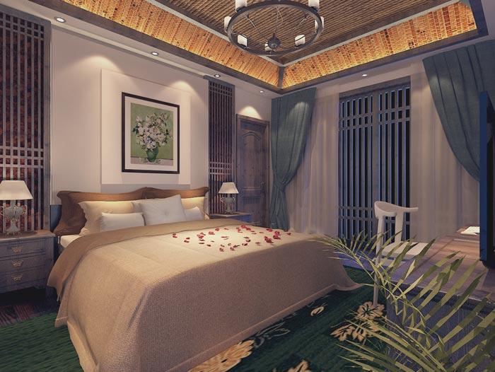 个人商务酒店客房细节装修设计案例效果图