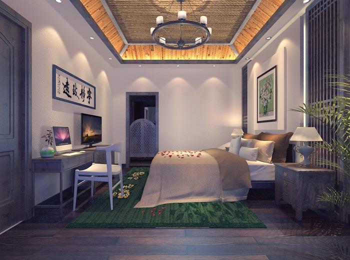 个人商务酒店客房装修设计案例效果图