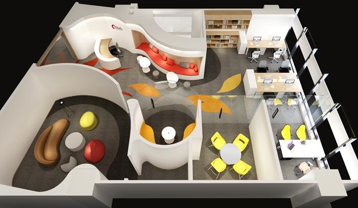 小户型办公室设计方案平面图