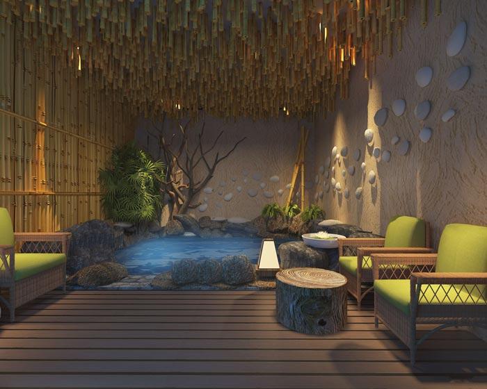 温泉度假酒店温泉装修设计案例效果图