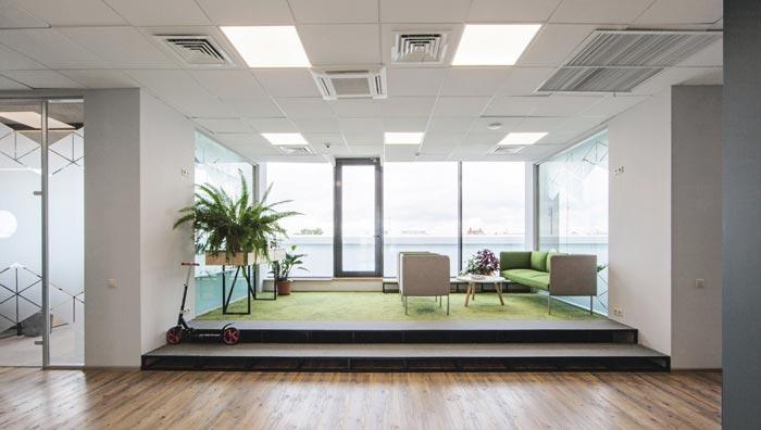 网络游戏开发商进门区域办公室装修设计案例