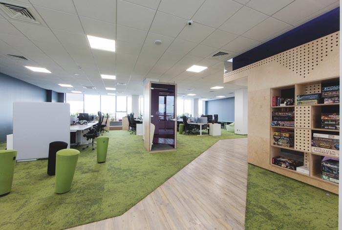 网络游戏开发商办公区域办公室装修设计案例