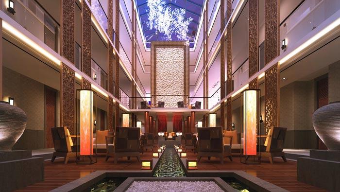 特色度假酒店大厅装修设计案例