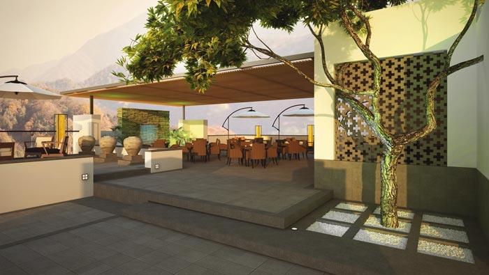 特色度假酒店天台接待装修设计案例