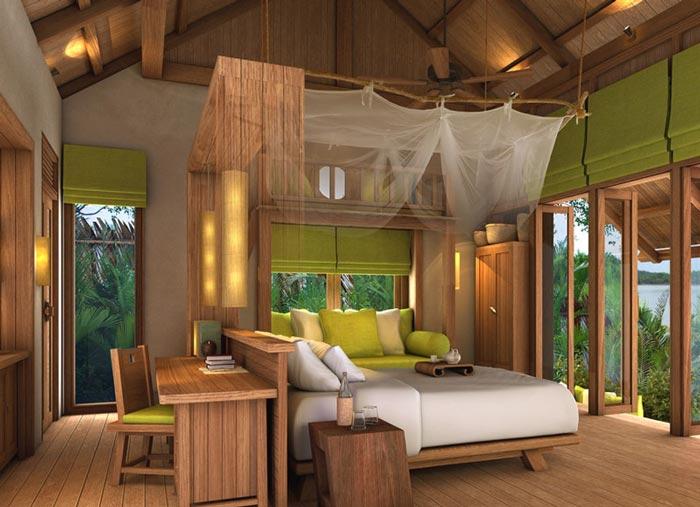 私人度假酒店客房装修设计案例效果图