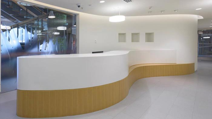 香料公司办公室前台装修设计案例效果图