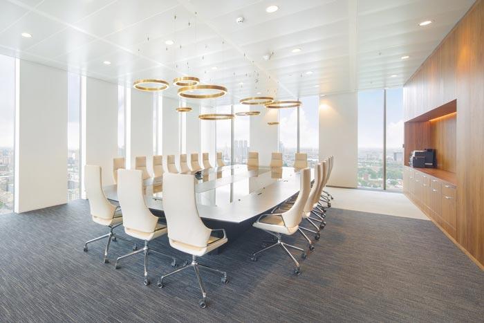 律师事务所办公室大会议室装修设计案例效果图