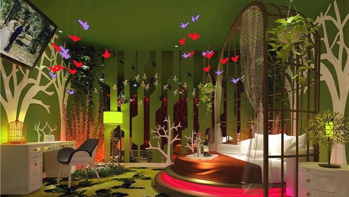 情趣酒店盛夏野趣客房装修设计案例效果图