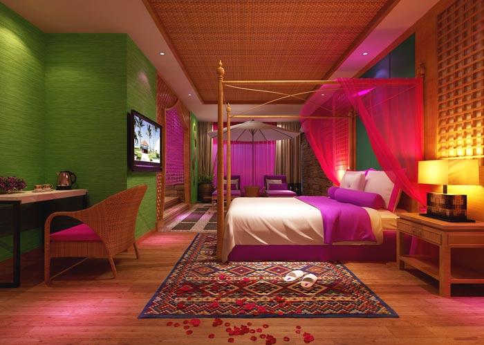 浪漫情侣酒店装修设计案例