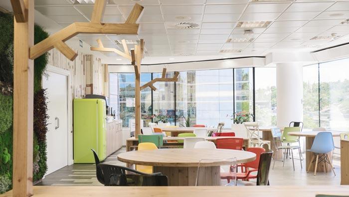 食品公司办公室招待区域装修设计案例效果图