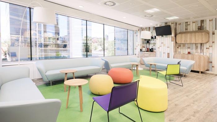 食品公司办公室休息区域装修设计案例效果图