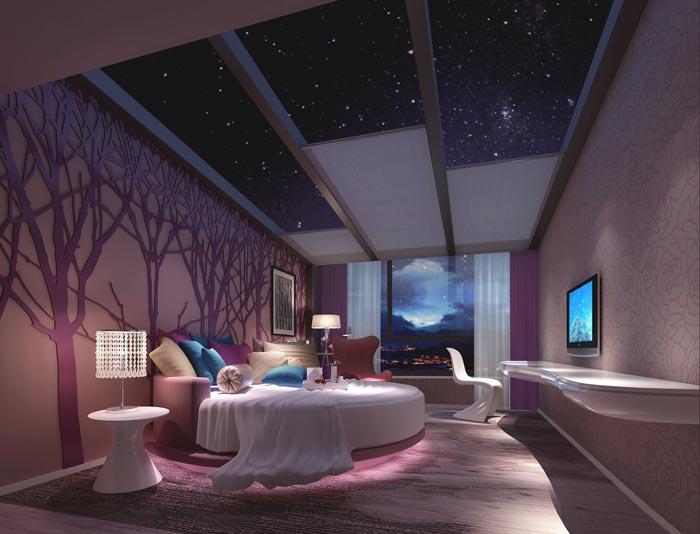 情侣主题酒店装修设计案例图片